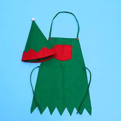 Amosfun Delantal de Elfo de Navidad