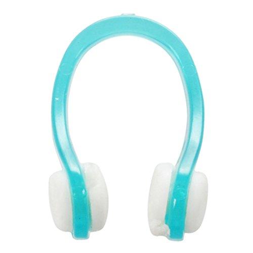 Nasenklammer - SODIAL(R) Gruen Klar Gummi Tauchen, Schwimmen Schwimmen Nasenklammer Schutz 3 Stueck