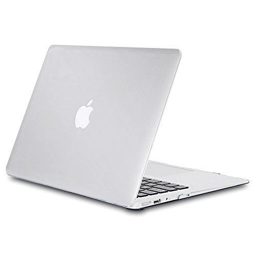 Funda MacBook Air 13 pulgadas,TECOOL Plástico Duro Case Ultra Delgado Cubierta Cover Cascara para MacBook Air 13.3 Modelo: A1466 y A1369(Clara)