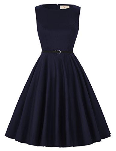 50's Style Mädchen Prom Kleider viktorianischen Stil Fit und Flare Kleid Größe XL CL6086-50 (Viktorianische Tee-kleid)