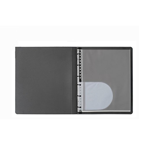 Prat Paris Start Presentation Book, Spiral Bound with Ten 19 x 13 Archival Sheet Protectors, Cover Color: Black by PRAT Start