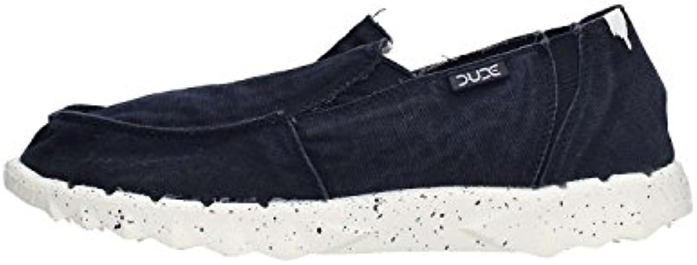 Dude Shoes Hombres de Farty Lavado Slip Azul Marino EN/Mula  -