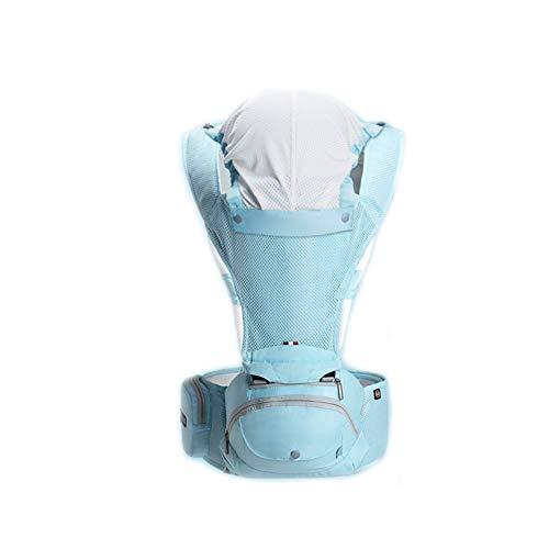 FH Portabebés Convertible 4 En 1, Mochila Portabebés Ergonómica Y Respirable 360   - Para 8-33 Libras - Portabebés Delantero Y Trasero, 4 Colores (Color : Blue-B)