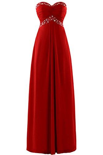 Gorgeous Bride Zauberhaft Abendmode Lang Tüll Empire Abendkleider Festkleider Ballkleider Rot