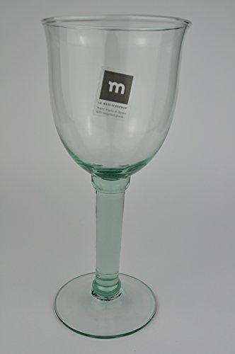 campanillo Copas de vino medianas de cristal reciclado de España