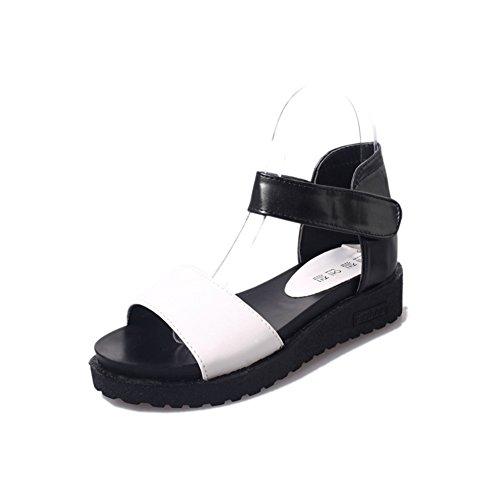 Été chaussures peep-toe/Chaussures plates A