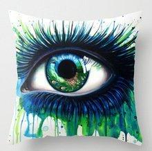 Elegancebeauty 45,7x 45,7cm/45par 45cm Slimmingpiggy confortable Parure de lit Bleu vert Big Eyes 45,7x 45,7cm Taie d