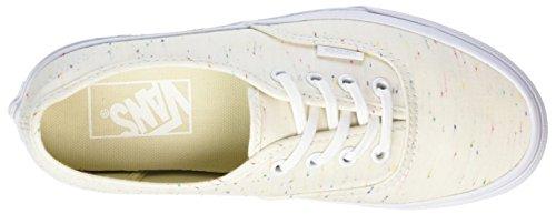 Vans Ua Authentic, Sneakers Basses Femme Ivoire (Speckle Jersey)