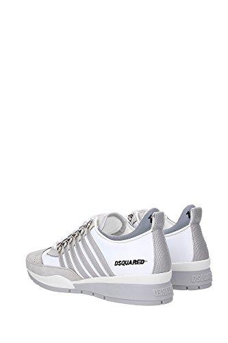 Dsquared2 chaussures baskets sneakers homme en cuir 251 gris Blanc