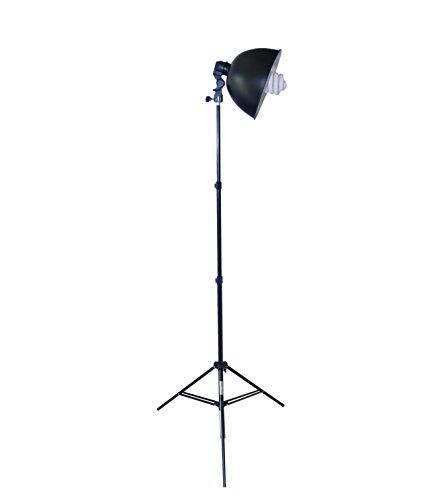 DynaSun Kit S27Kit 400W Illuminatore DayLight da Studio Professionale con Lampada 400W, Cavalletto Stativo, Portalampada, Riflettore