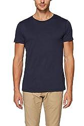 ESPRIT Herren 997EE2K819 T-Shirt, Blau (Navy 400), L