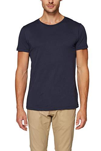 ESPRIT Herren 997EE2K819 T-Shirt, Blau (Navy 400), XL