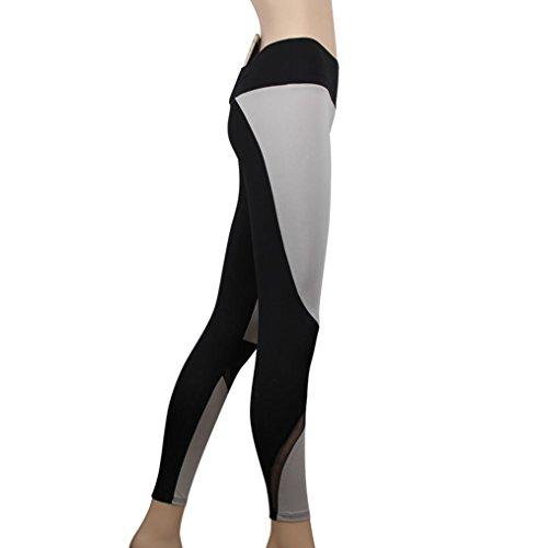 Pantalon de Sports pour femme,Tonwalk Gym/Yoga /Running/Fitness Leggings élastiques Taille haute Noir