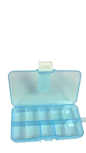 ANSIO 93921 Mehrzweck-Tiny 10-fach verstellbare Kunststoff-Aufbewahrungsbox/Schmuckkästchen, Werkzeug, Transparent - Armband Organizer Loom