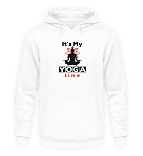 generisch Yoga Time | Geschenk Yoga, Meditation, Pilates, Fitness, Entspannung, Damen, Sport - Unisex Kapuzenpullover Hoodie -4XL-Arktikweiß