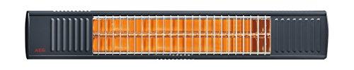 AEG Terrassen-Heizstrahler IR Premium 2000 A, 2 kW, hochheffiziente Qualitäts-Goldröhre,...