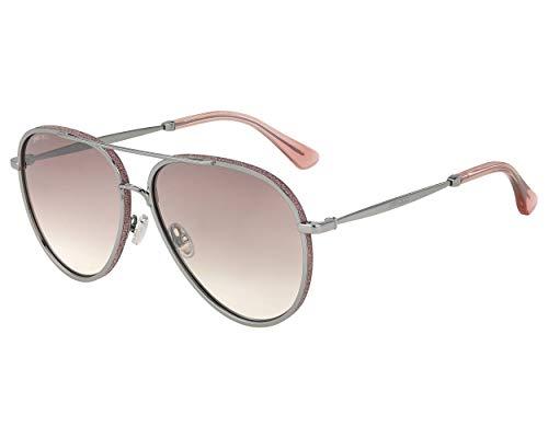 Jimmy Choo Sonnenbrillen (TRINY-S AVBNQ) silber - pink glitzer - pflaumenfarben verlaufend - silber verspiegelt