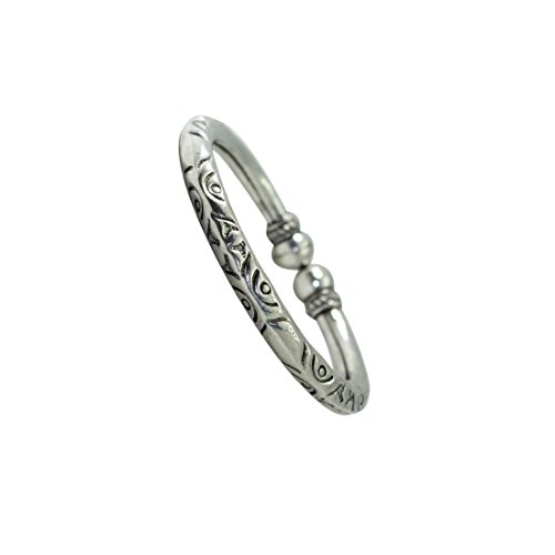 Frabjous1 Ethnic German Silver Circular Kada for Men