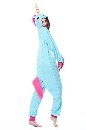 DAN SPEED Popolare Unisex Cosplay Unicorn Pigiama Animali Party Halloween Costume Attrezzatura Sleepwear Costume Cosplay,Tipo Nuovo,S M L XL Blu
