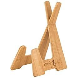 Y#x267B; Purple Leaf Bambu Atril para Libros Y#x267B; Soporte Tablet, Atriles Partitura