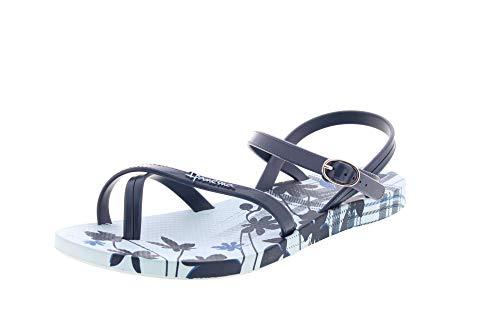 Ipanema Fashion Sandal VI Damensandalen, Damenzehentrenner 82521 (40 EU, Blau Gemustert (20729))