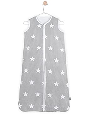 Jollein 049-516-64966 - baby sleeping bags (Grey, White, Pattern, Jersey, Summer, Zipper, Hand washing)