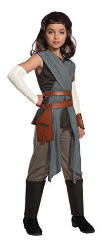Star Wars The Last Jedi Deluxe Rey Kids Fancy dress costume Large