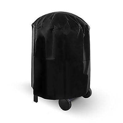 Dokon Grill Abdeckhaube, Kugelgrill Abdeckung Wasserdichtes Atmungsaktives Oxford-Gewebe BBQ Cover Schutzhuelle Haube - Schwarz