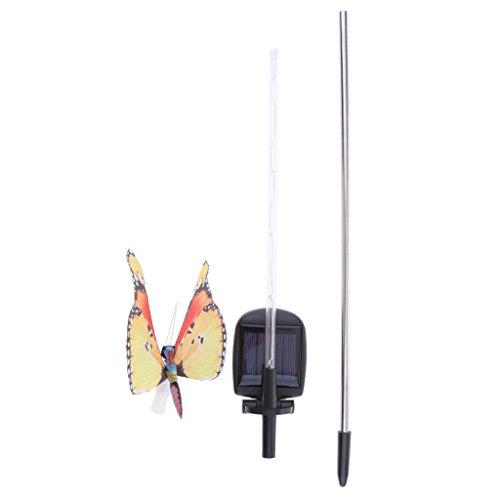 Baoblaze Luces de Mariposa Solar LED Lámpara Accesorio Manualidad Vehículo Reparar Bricolaje - Naranja