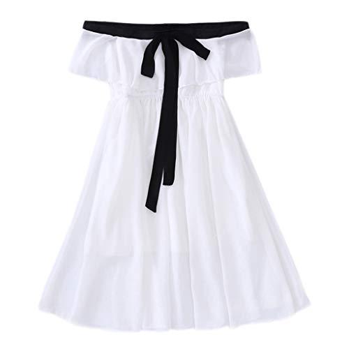 Julhold Teen Bambini Neonato Elegante Moda Senza Maniche Perline Granatina Ciondolo in Cotone Abito Slim Set 3-13 A