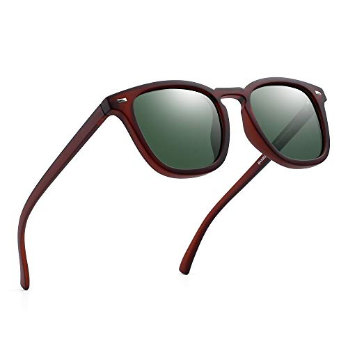 09de598fe4 JIM HALO Gafas de Sol Polarizadas de Espejo Retro Clásico Cuadrado Conducir Anteojos  Hombre Mujer(