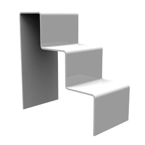 Displaypro–Marcos de grosor blanco acrílico 3paso contador expositor–envío gratuito.