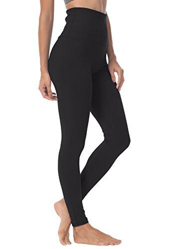 QUEENIEKE Damen-hohe Taillen Yoga Leggings Hosen Trainings Strumpfhosen Laufen Farbe Schwarz Größe X-Large -