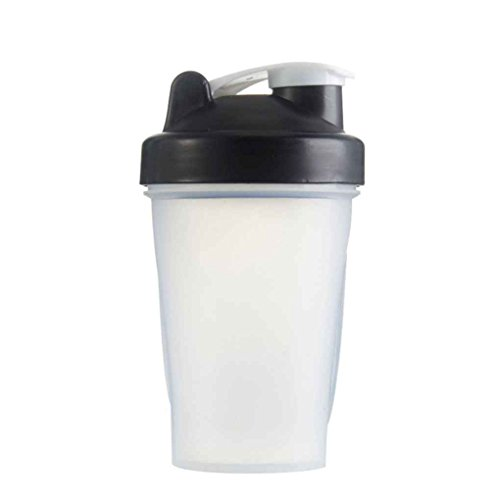 Florallive 400ml-Shake Gym Protein Shaker Mixer Getränk Whisk Kugel Tragbare Leakproof Sports Camping Shaker Trinkflaschen