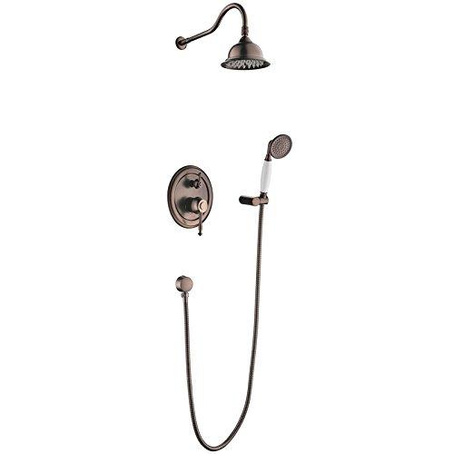 Spray Gold Trim (Oil Rubbed Bronze Bath Shower Faucet Set 8
