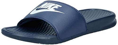 Nike benassi just do it, ciabatte uomo, blu (midnight navy), 41 eu