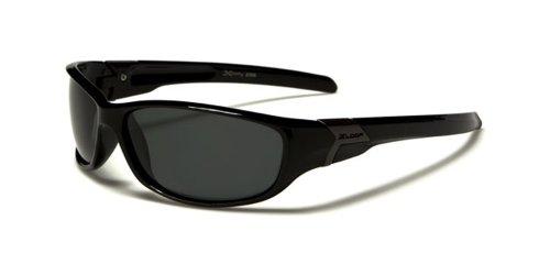 X-Loop Lunettes de sport Lunettes de soleil Lunettes de cyclisme (polarisierte)–Model courcheval–UV400(UVA & UVB)–Ultra Lightweight (Noir)