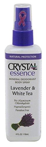 Crystal Déodorant minéral pour le corps - En spray - Parfum de lavande et de thé blanc - 118 ml