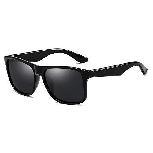 DuangBou Sportliche Sonnenbrille Schutzbrille Bunt Ultraleichtes Metall Fahren Angeln Pflegeset Schwarz
