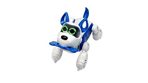 Silverlit-Robot Perro interactiva con reconocimiento Voz-Tren My Puppy-pupbo Azul