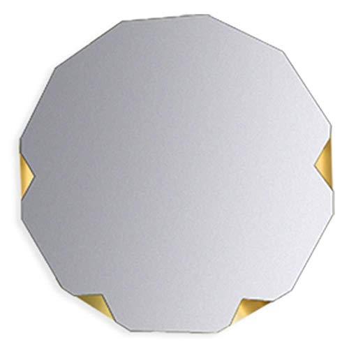 Mr.T Spiegel Wanddurchschlags-Free Ultra-clear Starke Schweiß Einfache europäischen Stil Anti-Oxidations-Badezimmer Eisen + Glas Badezimmerspiegel (Size : Diameter 70cm)
