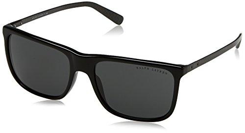 Ralph lauren 0rl81570187, occhiali da sole uomo, nero (black/darkgray), 58