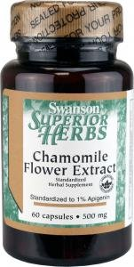 Swanson Chamomile Flower Extract 500mg (60 capsules) by Swanson Vitamins
