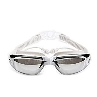 Anas Swim Goggles | Swimming Goggles For Men Women Adults - Best Non Leaking Anti-Fog UV Protection Clear Vision - Free Goggle Case Nose and Ear Plugs (color : White)