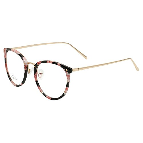 Domybest Bunte TR Metall Optische Plain Gläser Rahmen Cat Eye Brille Objektiv (E)