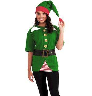 Jolly Elf Erwachsenen Kostüme (Jolly Elf-Kostüm für Erwachsene)