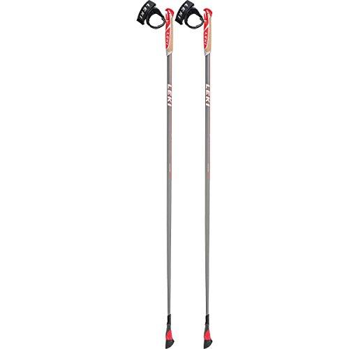 LEKI Smart Carat Nordic-Walking-Stock, Carbon/Red, 105 cm