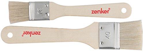 Zeller 42924 Pinceau à Pâtisserie Bois Beige 20 x 7,8 x 2 cm 2 Pièces