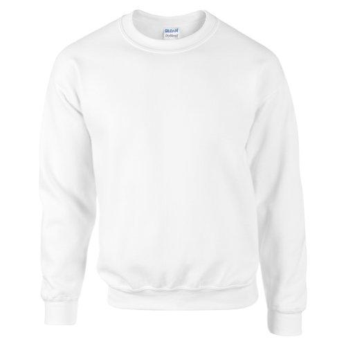 Gildan DryBlend Sweatshirt / Pullover mit Rundhalsausschnitt (L) (Weiß) Weißen Pullover