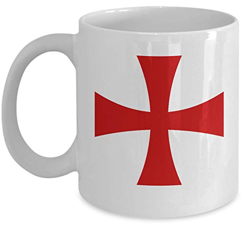 Knights Templar coffee mug - Templar red cross - Masonic accessories gift